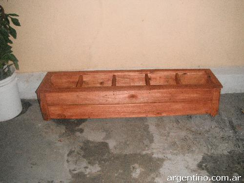 Macetas artesanales imagui - Jardineras de madera caseras ...