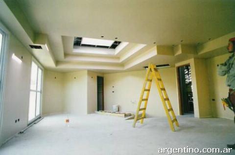 Colocaci n de durlock cielorrasos tabiques pvc pisos for Cielorrasos de casas
