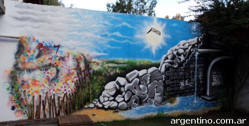 Fotos de graffiti art graffitis murales ambientaciones for Murales de fotos para pared