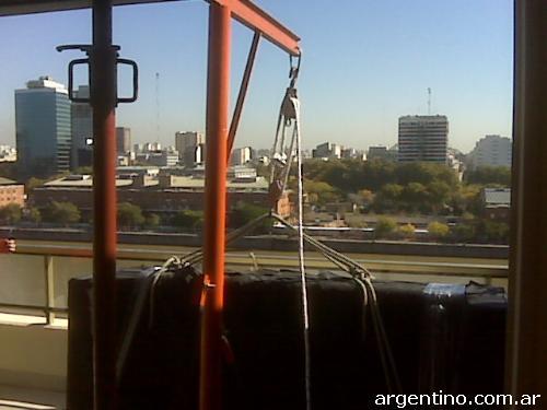fotos de subir muebles con sogas 4957 3307 en boedo