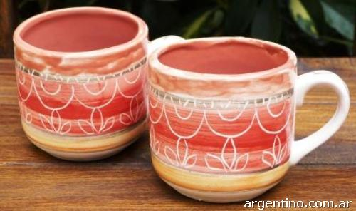 Tazas de cer mica artesanales y personalizadas en villa for Materiales para ceramica artesanal