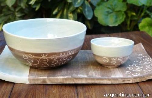 Cuencos de cer mica en villa pueyrred n for Decoracion en ceramica artesanal