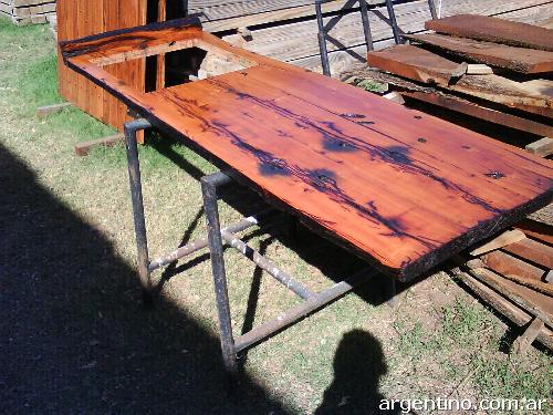 Fotos de muebles de quebracho en zona sur en Almirante Brown