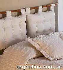 Fotos de gala ropa de cama respaldo sommier almohadones en villa carlos paz - Cojines para cabeceros de cama ...
