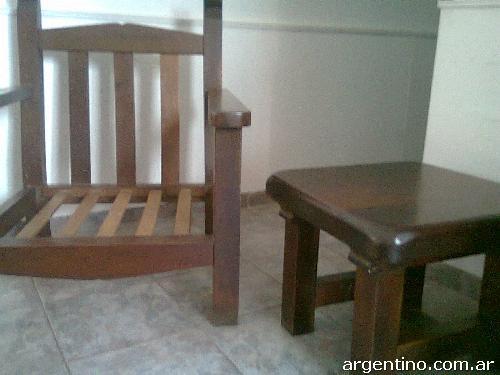 Living De Algarrobo Decoracion ~ Vendo Juego De Living De Algarrobo en Urca  $AR 1300