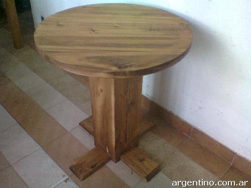 Mesas redondas para bar restauranre pub pizzer as for Bar rustico de madera
