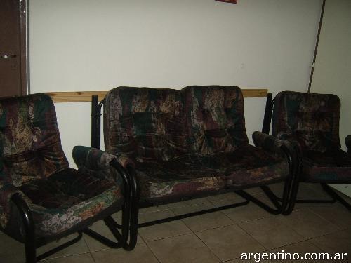 Urgente juego de living ca o y pana 3 cuerpos 390 Napsix muebles usados mendoza