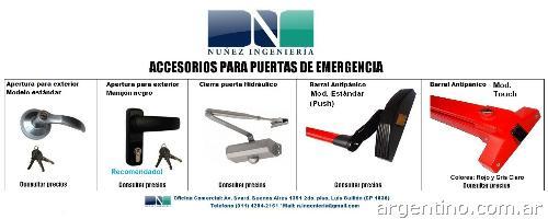 Fotos de puerta para salida de emergencia con barral for Precio de puertas salida de emergencia