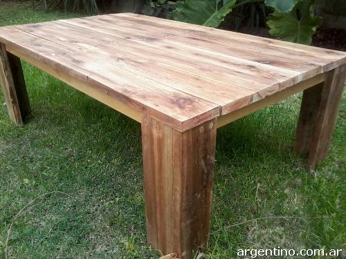 Fotos de mesa ratona r stica de madera reciclada en la plata - Mesa madera rustica ...