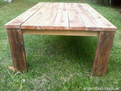 Fotos de mesa ratona r stica de madera reciclada en la plata for Imagenes de mesas rusticas