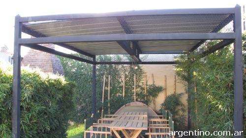 Techos para quincho techos entrada autos garaje rejas for Modelos techos para garage