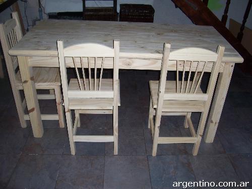 fotos de mesa y silla de pino en neuqu n capital