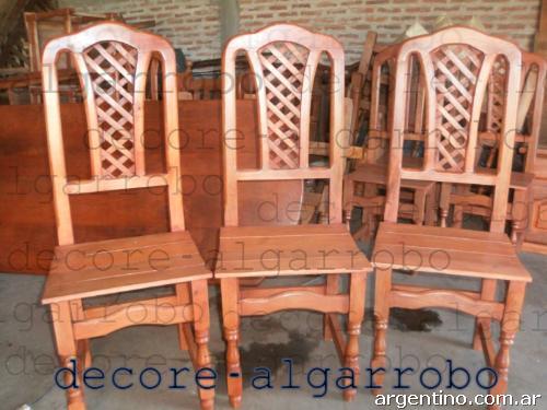 Silla Tamaras Rejilladas 100 Algarrobo En Machagai