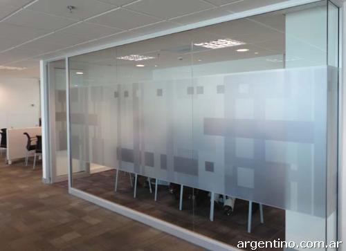 Vinilos decorativos para vidrieras casas y oficinas en for Vinilo para vidrio