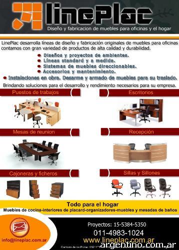 Lineplac muebles de oficina y el hogar en san crist bal for Fabricas de muebles de oficina en argentina