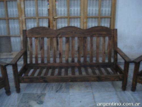 Fotos de vendo juego de sillones de madera en mendoza capital for Vendo bar de madera