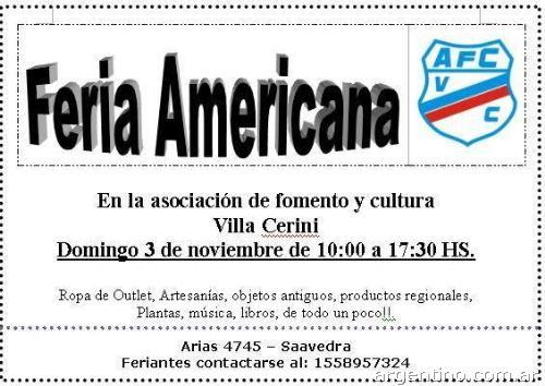 Feria Americana En Club Cerini Saavedra Capital Federal