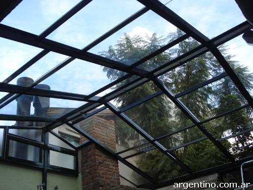 Cerramientos de aluminio techos fijosy corredizos - Cristales para techos ...