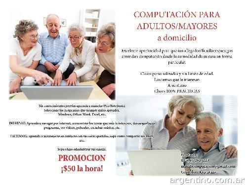 Computación Para Adultos/mayores en Córdoba Capital: teléfono