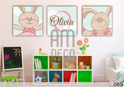 Fotos de decoraci n infantil cuadros infantiles for Murales y vinilos infantiles