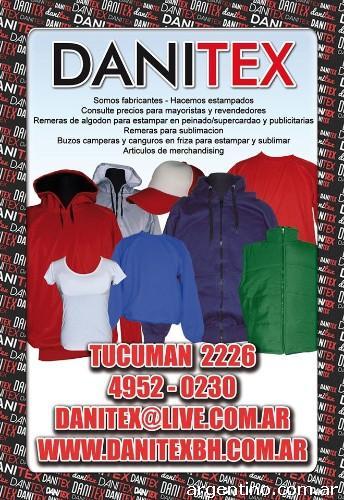 Danitex-fabricantes textiles en once. Atención mayoristas en Once ... 2e5fa866c6a