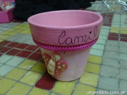 Fotos de macetas con detalles en porcelana fr a en bernal - Macetas de porcelana ...