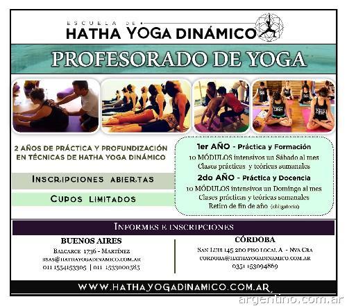 Profesorado de Hatha Yoga Dinámico en Córdoba Capital  teléfono 847d601b995d