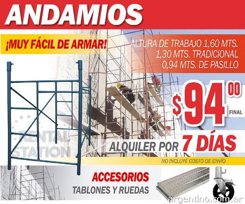 Alquiler de andamios en capital federal y gran buenos for Alquiler de andamios madrid