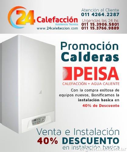 Venta e instalaci n de calderas peisa en pilar tel fono for Caldera mural baxi luna 3 comfort