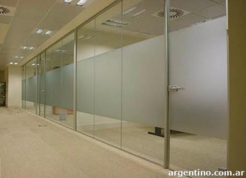 Vinilo esmerilado liso para oficinas incluye colocaci n for Colocacion vinilo en cristal