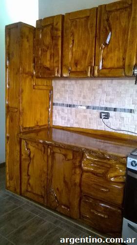 muebles r sticos bajo mesada alacena en san rafael