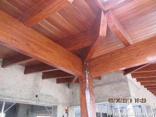 Fotos de techos de madera f brica de vigas laminadas sin - Fotos techos de madera ...