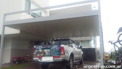 P rgolas aleros techos para cocheras galer as parrillas for Techos rusticos para galerias