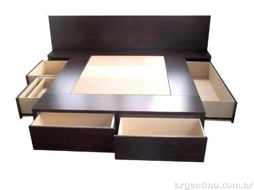 Dormibox cama con cajones f brica box sommier colch n dos for Cama 2 plazas con cajones